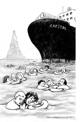 marc rodriguez porcell 2011 - People drowning in a sea of Debt - taken from ODG website
